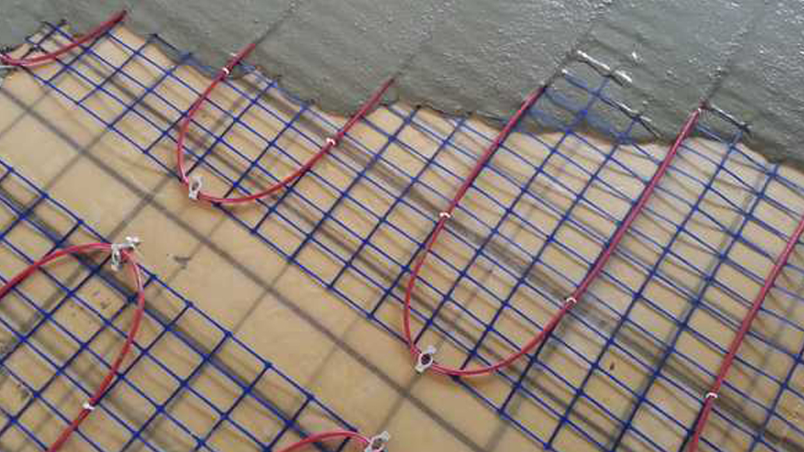 Chape sur plancher chauffant électrique